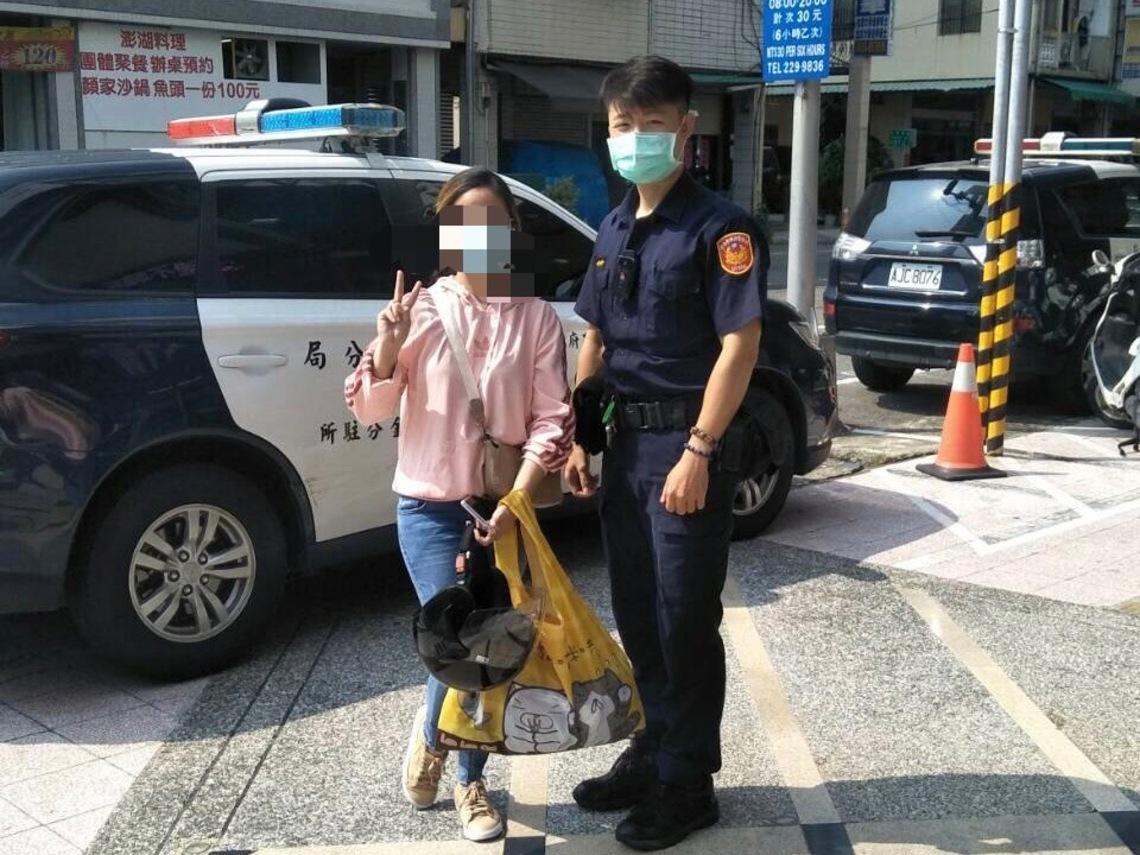 菲律賓籍女子派出所初體驗    直誇前金警高效率尋回包包