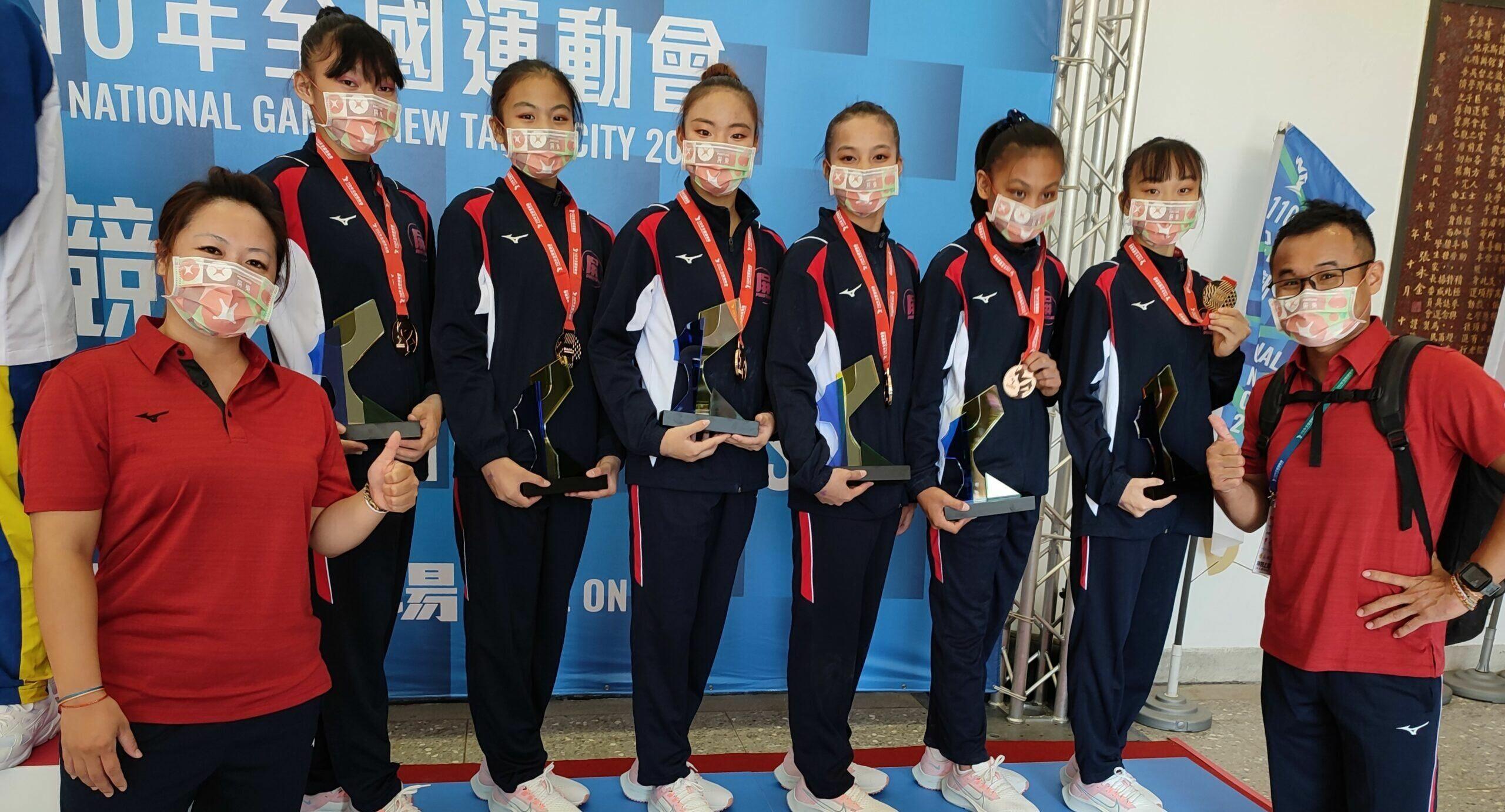 《全運》走出上屆「零牌」陰霾 屏東縣女子體操團體重返頒獎台
