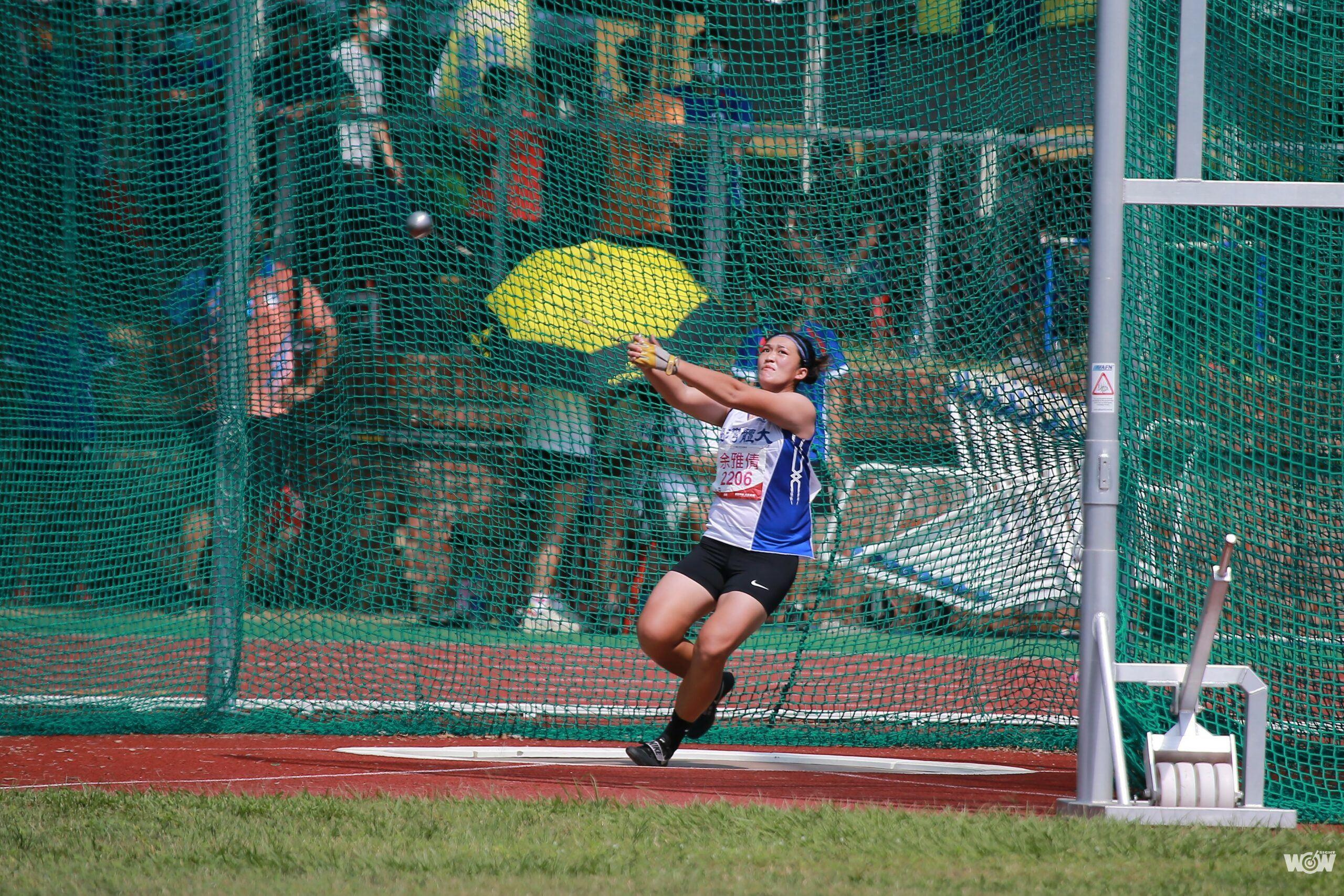 《全大運》64公尺12 余雅倩女子鏈球破全國達標亞運