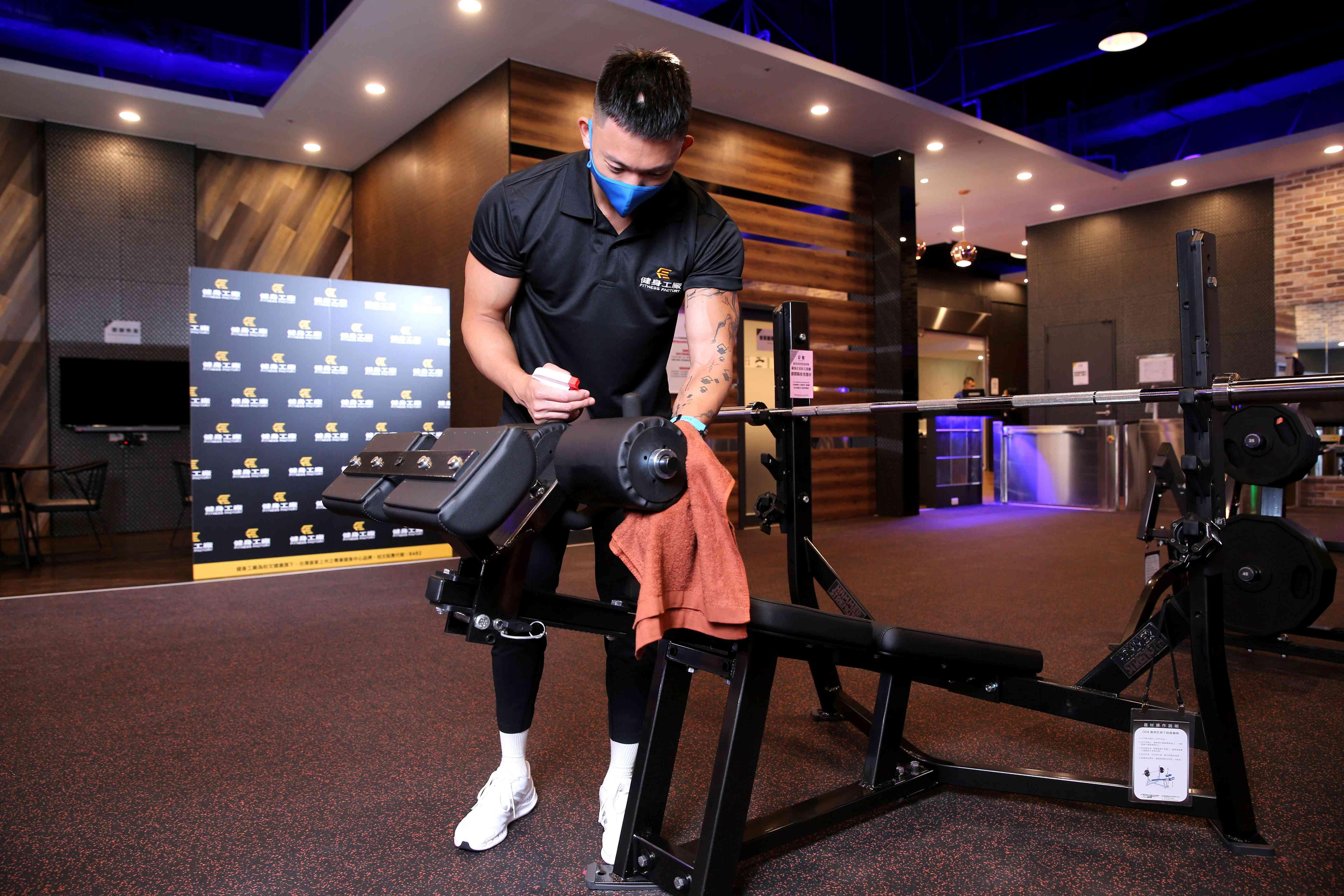 健身工廠做好高規格防疫迎接回歸運動的民眾