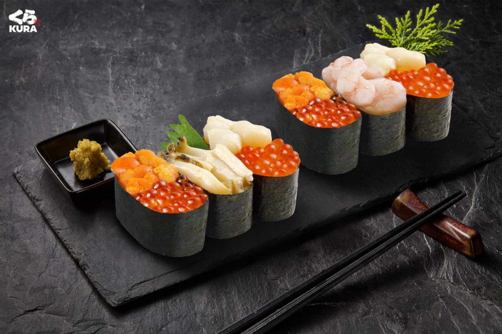 超高CP值的「鮭魚卵鮑魚奢華三貫」、「海之幸豪華三貫」都將在「鮪貝嚐鮮祭」限時登場。
