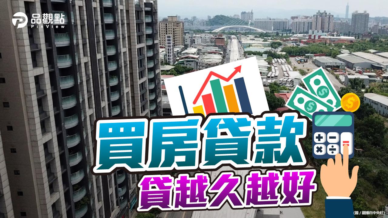 品觀點|貸款買房還本金? 網友:貸款越久越好|房產