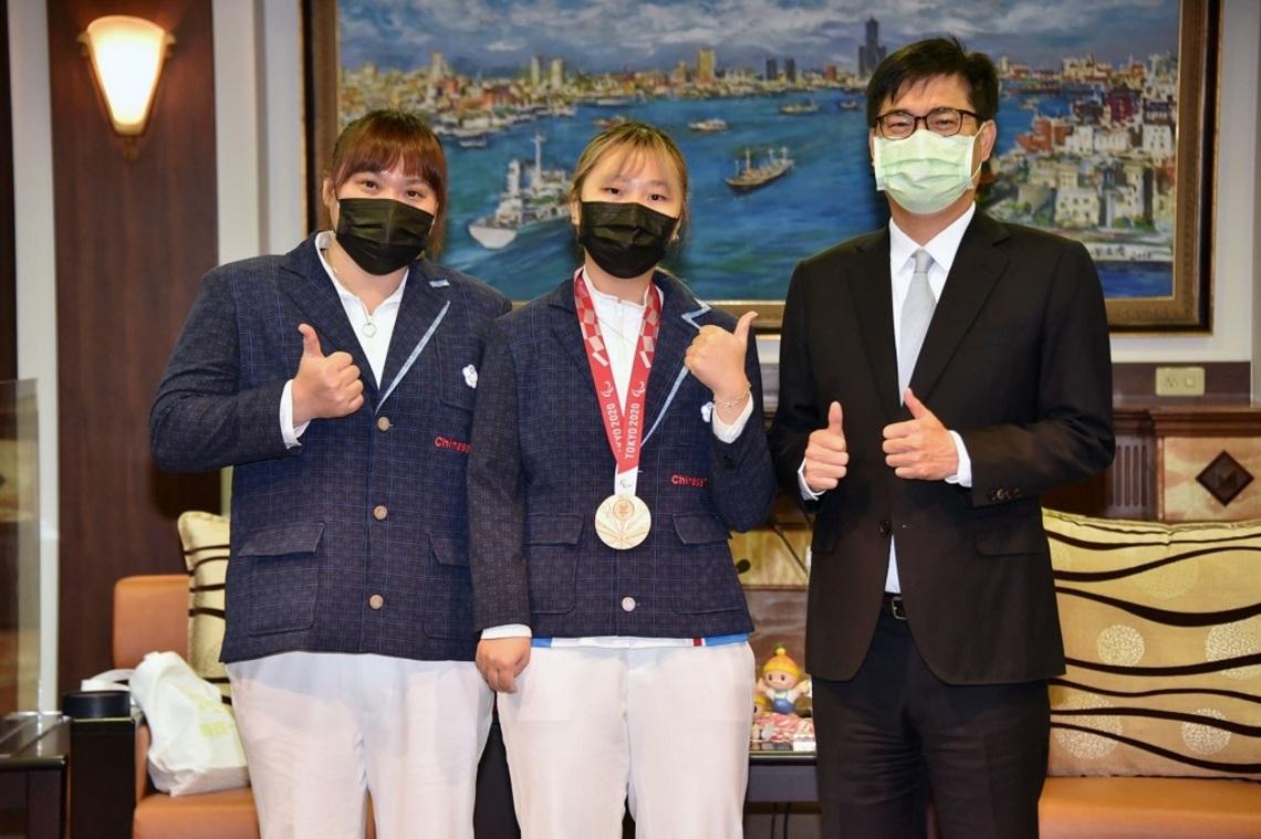 接見2020東京帕運選手    陳其邁讚許選手毅力與勇氣