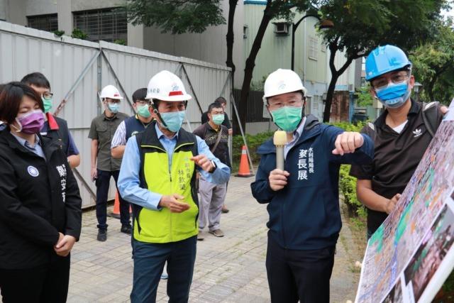 林欽榮副市長視察鳳山區曹公圳分洪工程