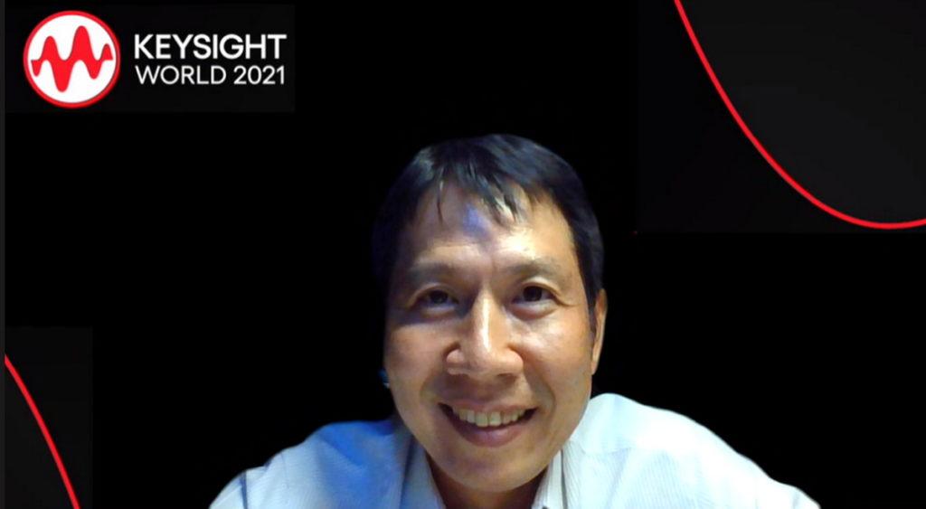 是德科技行銷處副總經理 羅大鈞於活動中搶先分享Keysight World 2021重點訊息