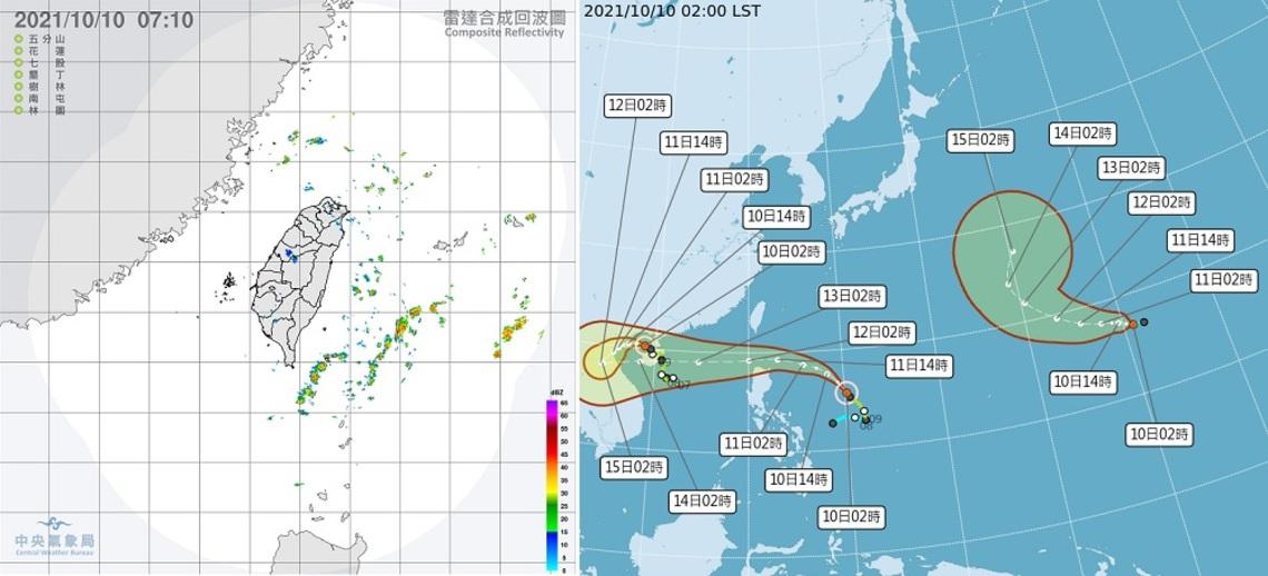 東邊偶雨西邊晴    下午起北臺灣水氣增