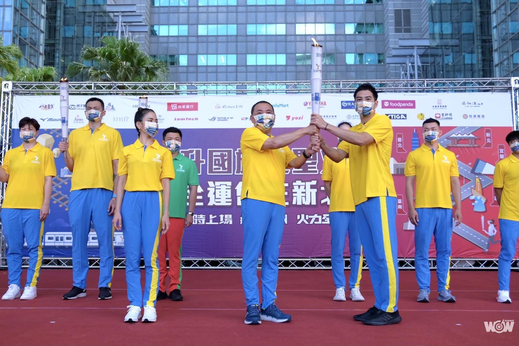 《全運》新北全運會升國旗迎聖火  創台灣史上最多奧運國手火炬傳遞