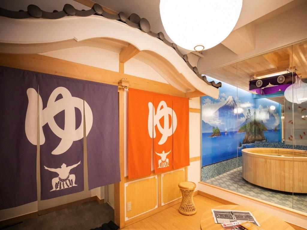 以錢湯與相撲為主軸的「DOSUKOI房」也很有創意。(圖片來源:©ASOBISYSTEM)