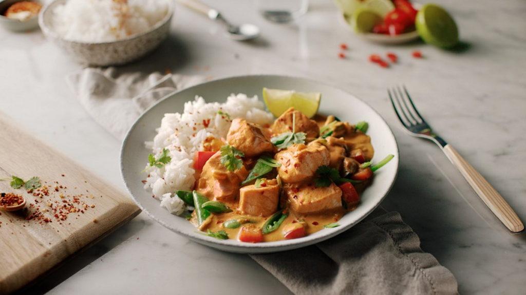 鮭魚咖哩飯