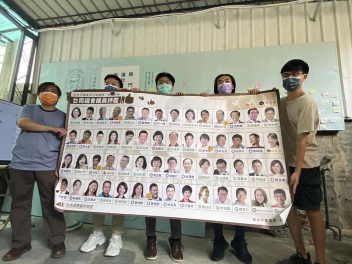 評鑑台南議員6名發言不及格