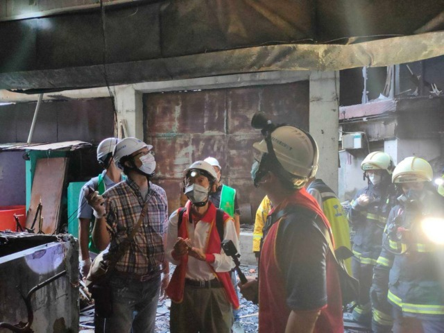 城中城大樓火災後專業技師現勘結果尚無立即傾倒之危險